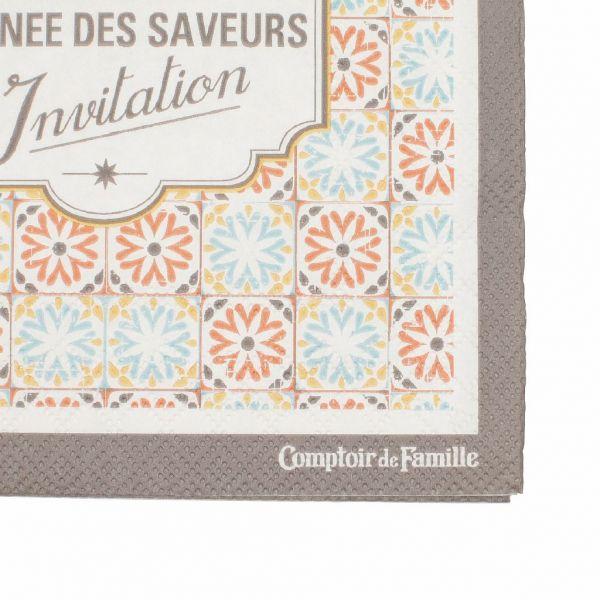 Салфетки бумажные, Comptoir de Famille, 151830