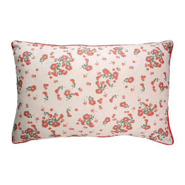 ПОДУШКА, COMPTOIR DE FAMILLE,  BACKREST CUSHION GROSEILLE N+RED 70X50 COTON+LINEN, АРТИКУЛ 201219