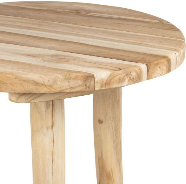 КРЕСЛО ИЗ РОТАНГА, COTE TABLE, BAR TABLE SEYCHELLES NATURAL D70XH110CM TEAK, Арт.: 36872