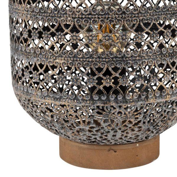 ЛАМПА LAMP FLOWER GREY D22XH30 E27 CABLE 1.50M IRON+WOOD Jardin d'Ulysse, арт. 466545